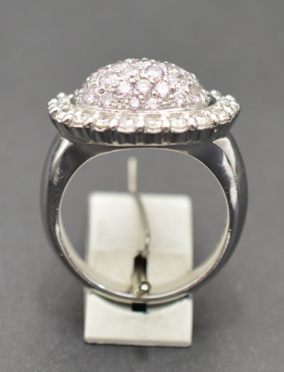 【ジュエリー/ダイヤモンド/指輪】PT ピンクダイヤモンドリング D/1.53カラット