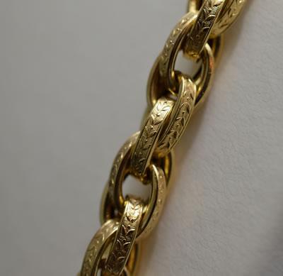 【ジュエリー/ゴールド/ネックレス】K18 イタリー製ロングネックレス