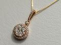 【ジュエリー/ダイヤモンド/ネックレス】K18PG ダイヤモンドペンダントネックレス D/0.75カラット