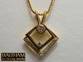 【ジュエリー/WALTHAM(ウォルサム)/ネックレス】K18 ダイヤモンドアートムービングジュエリー(Art Moving Jewelry)