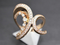【ジュエリー/ダイヤモンド/指輪】K18PG ダイヤモンドリング D/0.75カラット