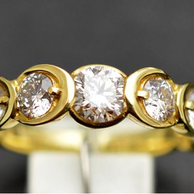 【ジュエリー/ダイヤモンド/指輪】K18 ダイヤモンドリング D/1.00カラット