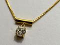 【ジュエリー/ダイヤモンド/ネックレス】K18 ダイヤモンドペンダントネックレス D/0.65カラット
