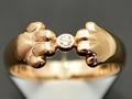 【ジュエリー/ダイヤモンド/指輪】K18YG ダイヤモンドリング D/0.02カラット