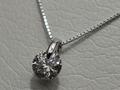 【ジュエリー/ダイヤモンド/ネックレス】PT ダイヤモンドペンダントネックレス D/1.038カラット