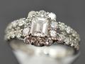 【ジュエリー/ダイヤモンド/指輪】PT 角ダイヤモンドリング D/1.568カラット