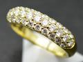 【ジュエリー/ダイヤモンド/指輪】K18 ダイヤモンドパヴェリング D/1.01カラット