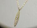 【ジュエリー/ダイヤモンド/ネックレス】K18 ダイヤモンドペンダントネックレス D/0.20カラット