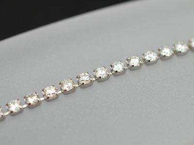 【ジュエリー/ダイヤモンド/ブレスレット】K18WG ダイヤモンドテニスブレスレット D/5.00カラット