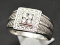 【ジュエリー/ダイヤモンド/指輪】K18WG ダイヤモンドメンズリング D/0.50カラット
