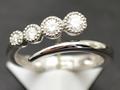 【ジュエリー/ダイヤモンド/指輪】K18WG ダイヤモンドリング D/0.30カラット <フリーサイズ>
