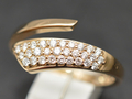 【ジュエリー/ダイヤモンド/指輪】K18PG ダイヤモンドリング D/0.35カラット <フリーサイズ>