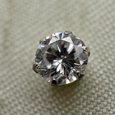 【ジュエリー/ダイヤモンド/ピアス】PT ダイヤモンドピアス D/0.541カラット