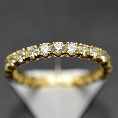 【ジュエリー/ダイヤモンド/指輪】ハート&キューピット K18ダイヤモンドフルエタニティリング D/1.00カラット