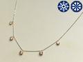 【ジュエリー/ダイヤモンド/ネックレス】ハート&キューピット K18WGPGダイヤモンドネックレス D/1.00カラット