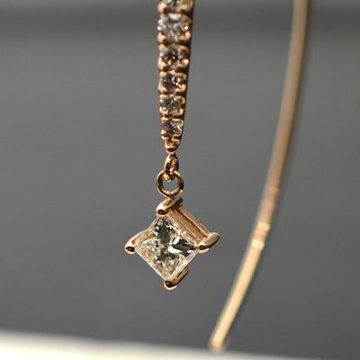【ジュエリー/ダイヤモンド/ピアス】K18PG ダイヤモンドピアス D/0.52カラット