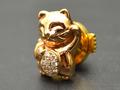 【ジュエリー/ダイヤモンド/ピンブローチ】K18PG ダイヤモンドピンブローチ(猫) D/0.07カラット
