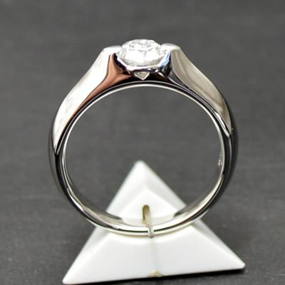 【ジュエリー/ダイヤモンド/指輪】PT ハート&キューピット ダイヤモンドリング D/0.501カラット