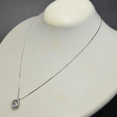 【ジュエリー/ダイヤモンド/ネックレス】PT ダイヤモンドペンダントネックレス D/0.5カラット <ダンシングストーン>