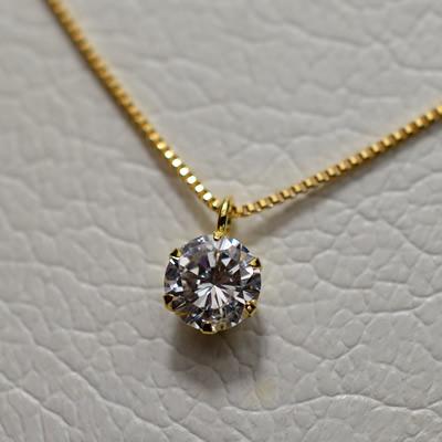 【ジュエリー/ダイヤモンド/ネックレス】K18 ダイヤモンドネックレス D/0.338カラット