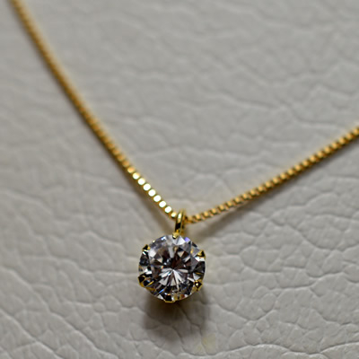 ★ 5%OFF ★【ジュエリー/ダイヤモンド/ネックレス】K18 ダイヤモンドネックレス D/0.338カラット