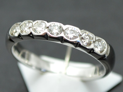 【ジュエリー/ダイヤモンド/指輪】PT ダイヤモンドリング D/0.50カラット