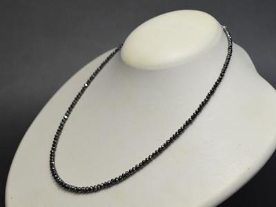【ジュエリー/ダイヤモンド/ネックレス】K18WG ブラックダイヤモンドネックレス BD/30カラット