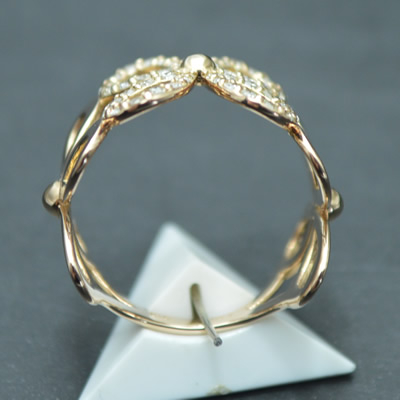 【ジュエリー/ダイヤモンド/指輪】K18PG ダイヤモンドリング D/0.41カラット