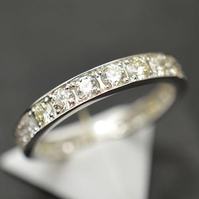 【ジュエリー/ダイヤモンド/指輪】ハート&キューピット PT ダイヤモンドフルエタニティリング D/1.00カラット