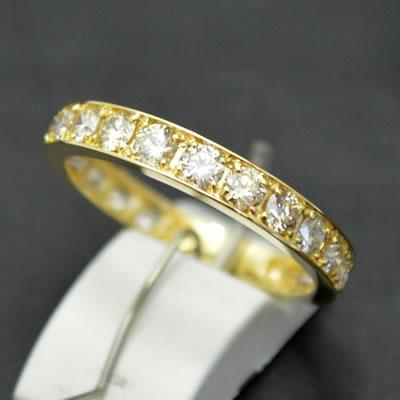 【ジュエリー/ダイヤモンド/指輪】ハート&キューピット K18 ダイヤモンドフルエタニティリング D/1.00カラット