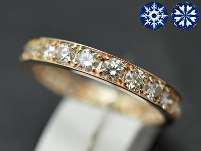 【ジュエリー/ダイヤモンド/指輪】ハート&キューピット K18PG ダイヤモンドフルエタニティリング D/1.00カラット