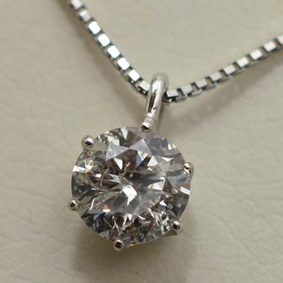 【ジュエリー/ダイヤモンド/ネックレス】PT ダイヤモンドペンダントネックレス D/1.102カラット