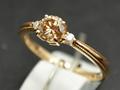 【ジュエリー/ダイヤモンド/指輪】K18PG ブラウンダイヤモンドリング D/0.528カラット