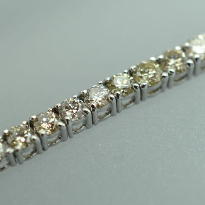 【ジュエリー/ダイヤモンド/ブレスレット】K18WG ダイヤモンドテニスブレスレット D/3.0カラット