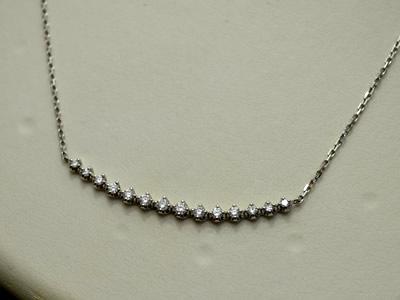 【ジュエリー/ダイヤモンド/ネックレス】PT ダイヤモンドネックレス D/0.30カラット