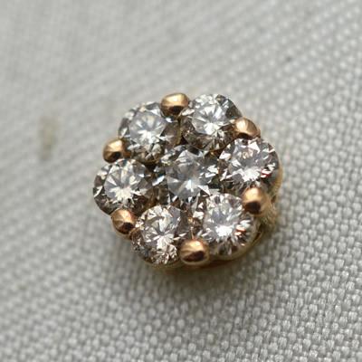 【ジュエリー/ダイヤモンド/ピアス】K18PG ダイヤモンドピアス D/0.50カラット