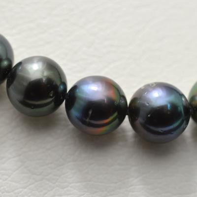 【ジュエリー/真珠/ネックレス】タヒチブラックパールネックレス 9.2〜11.4mm