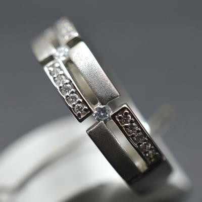 【ジュエリー/ダイヤモンド/指輪】PT ダイヤモンドリング D/0.16カラット
