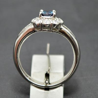 【ジュエリー/アレキサンドライト/指輪】PT アレキサンドライトリング A/0.90カラット