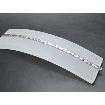 【ジュエリー/ダイヤモンド/ネックレス】K18WG ダイヤモンドブレスレット D/0.23カラット