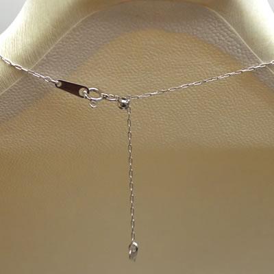 【ジュエリー/ダイヤモンド/ネックレス】PT ダイヤモンドステーションロングネックレス D/0.3カラット