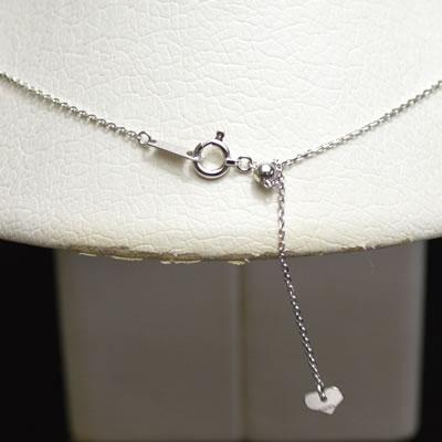 【ジュエリー/ダイヤモンド/ネックレス】K18WG ダイヤモンドペンダントネックレス D/0.42カラット