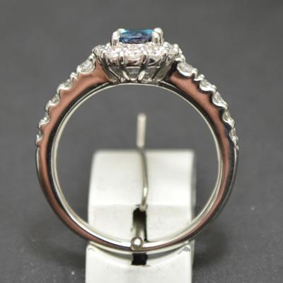 【ジュエリー/アレキサンドライト/指輪】PT アレキサンドライトリング A/0.61カラット D/0.65カラット
