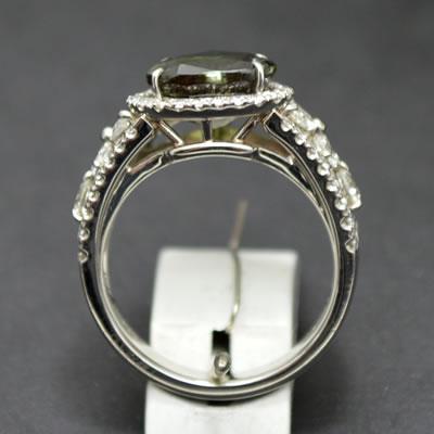 【ジュエリー/アレキサンドライト/指輪】PT アレキサンドライトリング A/3.691カラット D/1.12カラット