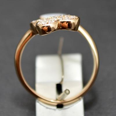 【ジュエリー/ダイヤモンド/ネックレス】K18PGダイヤモンドリング D/0.33カラット