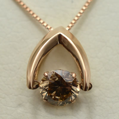【ジュエリー/ダイヤモンド/ネックレス】W18PG ダイヤモンドペンダントネックレス D/0.50カラット <ダンシングストーン>