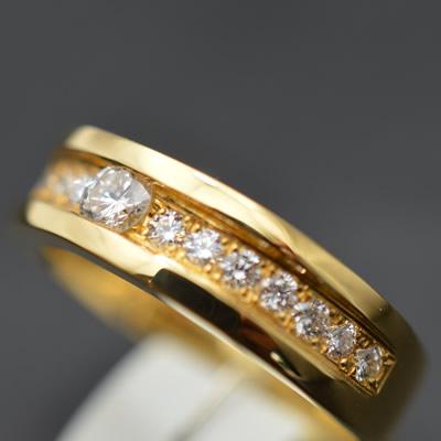 【ジュエリー/ダイヤモンド/指輪】K18ダイヤモンドリング D/0.201カラット