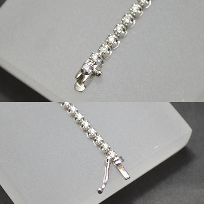 【ジュエリー/ダイヤモンド/ブレスレット】K18WG ダイヤモンドテニスブレスレット D/1.00カラット
