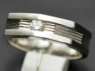【ジュエリー/ダイヤモンド/指輪】PT ダイヤモンドリング D/0.15カラット