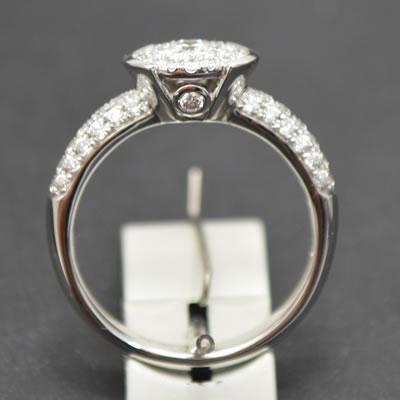 【ジュエリー/ダイヤモンド/リング】K18WGダイヤモンドリング D/0.70カラット